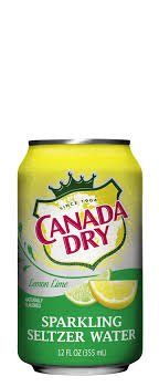 Canada Dry Sparkling Lemon Lime Flavored Seltzer Water 12oz Can (Pack of 24) (Canada Dry Flavored Seltzer compare prices)