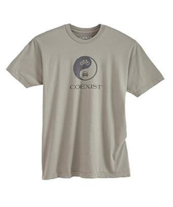Green Label Coexist Men's Crew T-shirt. Khaki. Xtra Large.