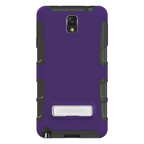 Seidio CSK3SSGT3K-PR DILEX Case with Metal Kickstand for use with Samsung Galaxy Note 3 - Amethyst (Samsung Note 3 Platinum Case compare prices)