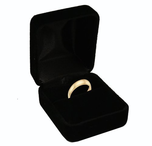 Black Velvet Ring Box