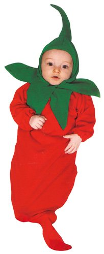 Rubie's Costume Co Baby Boy's Red Hot Chili Pepper Bunting Infant Costume, Red, 0-9 Months - 1