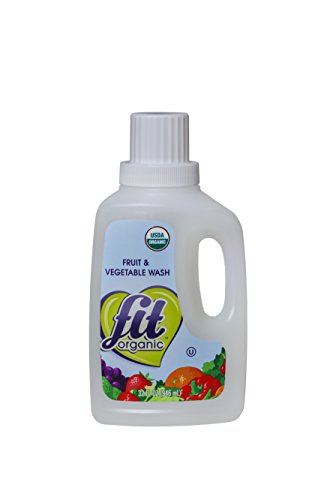 Fit Organic Fruit and Vegetable Wash, Soaker/Refill Bottle, 32-Ounce Units (Pack of 3) (Spray N Wash Refill compare prices)