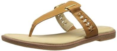 Hush Puppies Womens Caposhi Toe Post Thong Sandals HW05013-260 Tan 3 UK, 36 EU