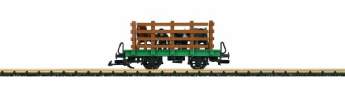 LGB Toy-Train with Stake Sides and Zoo Animal Load Ready to Run G Scale Car