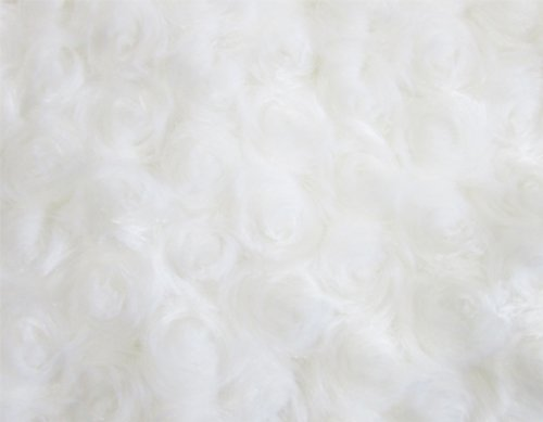 Camera Photo Floor Prop Faux Fur Artificial Fur, Newborn Baby Photography Props, Basket Stuffer Blanket - Baby Props, Basket Fabric (White Rossette) (Baby Fabric Baskets compare prices)
