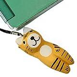 木彫り 招き 虎 ストラップ【招き猫の虎バージョンは、健康と勝ち運、商売運を呼ぶラッキータイガー!携帯電話にあしらったり、バッグチャームにもお薦め】