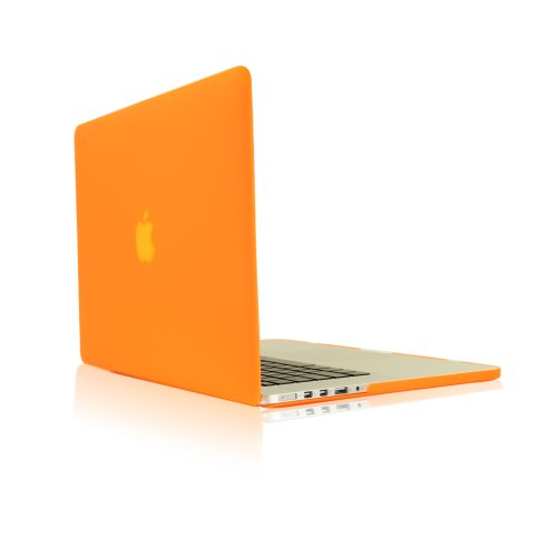 Top Case Orange Rubberized Hard Case Cover for Apple MacBook Pro 13.3