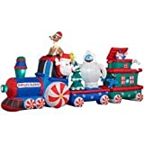 16ft Airblown Inflatable Animated Rudolph Train