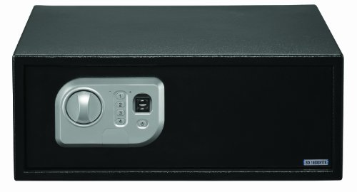 Stack-On Ps-7-B Biometric Extra Wide Personal Safe, Black