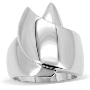 RIGHT HAND RING - High Polished Stainless Steel Smooth Surface Wrap Ring