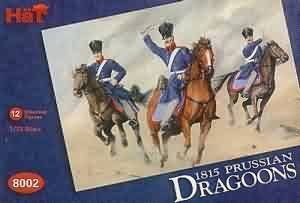 1:72 hat model figures 1815 prussian dragoons 8002