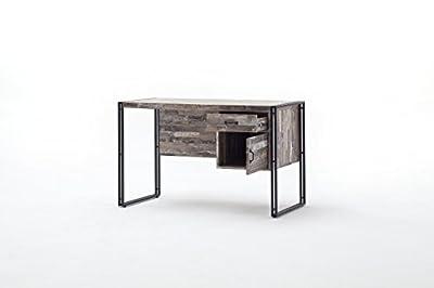"""Schreibtisch Arbeitstisch """"LATIN"""" Dekor Maracaibo i Industrial Design 120x59 cm"""
