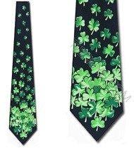 Falling Shamrocks Tie St. Patricks Day Clover Necktie