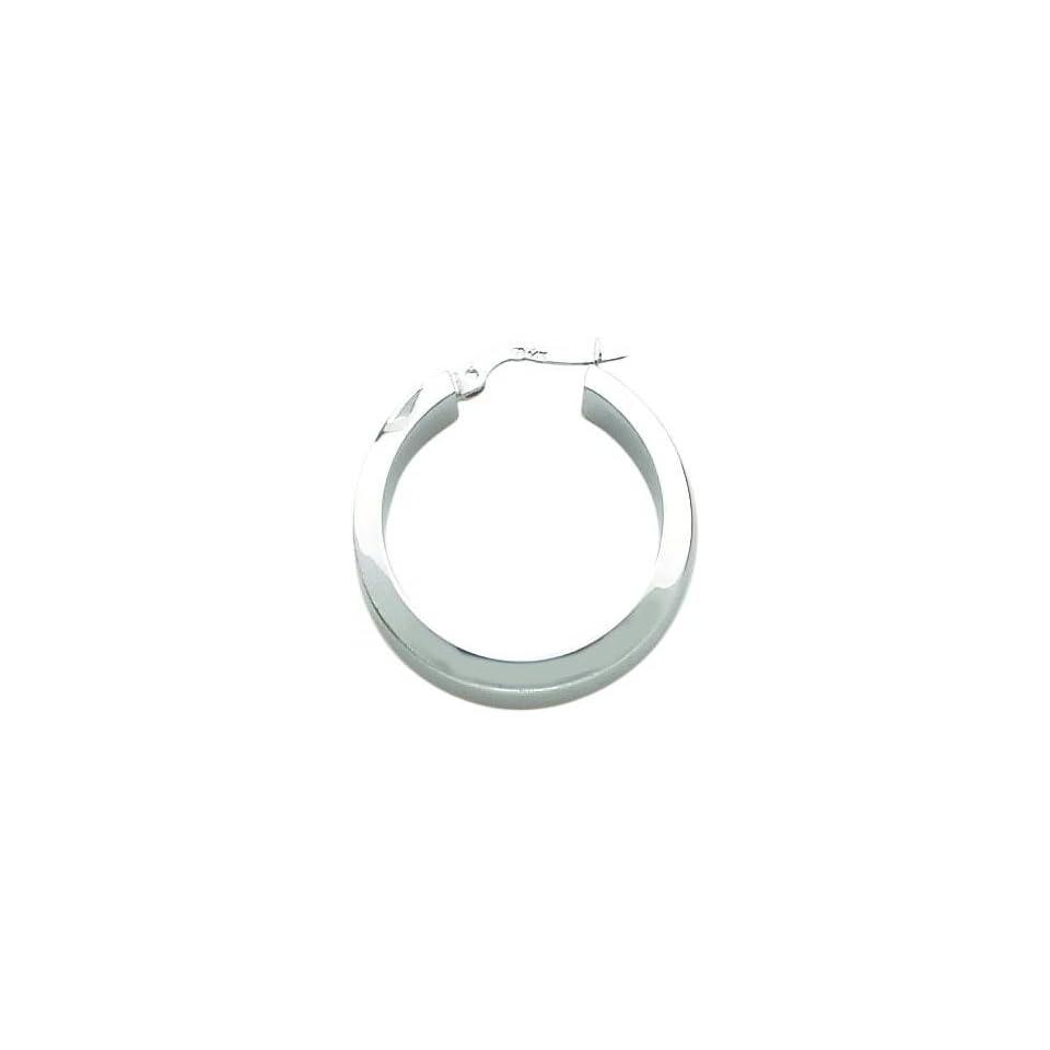 White gold Hoop Earrings Polished Jewelry New AC Jewelry