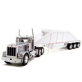 diecast car: Peterbilt 379 Grain Trailer Truck 1:32 Diecast Model