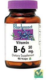 Bluebonnet Nutrition - Vitamin B-6 50 Mg. - 90 Vegetarian Capsules