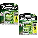 Rechargeable AA Batteries, NiMH, 2000 mAh, Pre-Charged, 4 Count (Recharge Universal) - Pack of 2 (Tamaño: 4 Count - Pack Of 2)