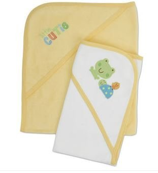 2-Pack Gerber Baby Hooded Bath Towel Neutral - 1