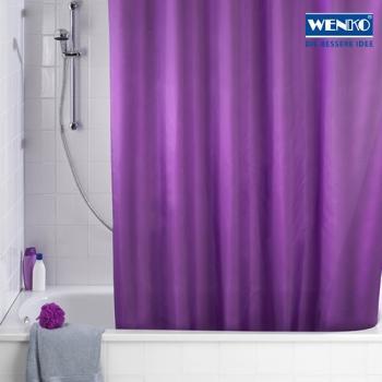 WENKO Antischimmel Duschvorhang Uni Purple