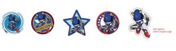 Sonic the Hedgehog Gacha Magnets - Magnet Set: Metal Sonic (5 Magnete)