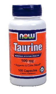 Now Foods Taurine 500 mg, 100 caps (pack de 2)