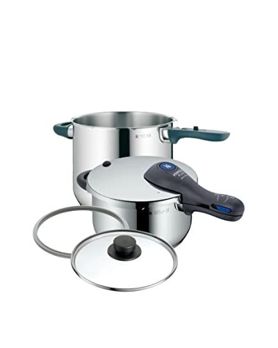 WMF Perfect Plus Pressure Cooker Set, Stainless Steel Grey