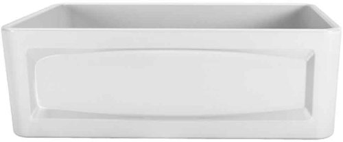 Porcher 35010-30.001 30-Inch Single Bowl Farm Sink, White