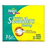 Pampers Swaddlers Preemie New Baby Diapers 20 ea by Procter & Gamble