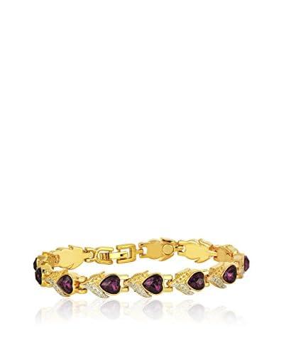 Shiny Cristal Braccialetto  metallo placcato oro 24 kt/Violetto