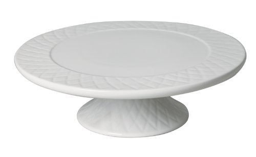 Gibson Diamond Quilt 11-Inch Fine China Footed Cake Plate