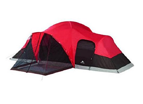 Ozark-Large-Tent-Red-and-Black-sleep-10-with-Screened-Porch-and-Removable-Room-dividers-Great-for-family-camping-and-multiple-people-Camping-or-Hiking