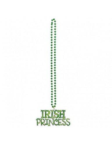 Irish Princess Pendant Bead Necklace 36in