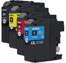 Refurbished / Compatible Brother LC105 (XXL) / LC107 INK / INKJET Cartridge Super High Yield SET Black Cyan Magenta Yellow (Brother Ink Lc105 Xxl compare prices)