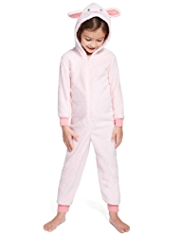 Hooded Bunny Fleece Onesie