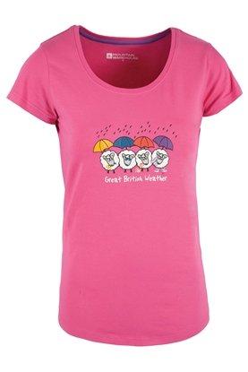 Mountain Warehouse Great British Weather Womens Tee-Shirt