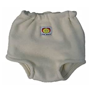 Little Beetle Organic Wool Soaker Shorts - A gentle elastic waist and rolled leg openings make pulling them on and off a snap!