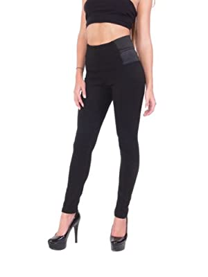 Hollywood Star Fashion Women's High Waist Side Elastic Thick Leggings