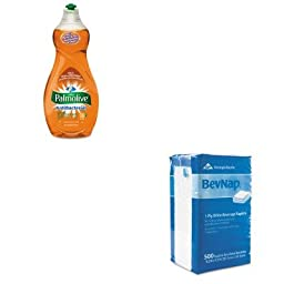 KITCPM46113EAGEP96019 - Value Kit - Georgia Pacific Beverage Napkins (GEP96019) and Ultra Palmolive Antibacterial Dishwashing Liquid (CPM46113EA)
