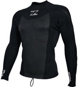 Buy 2mm Mens Billabong Foil Long Sleeve Wetsuit Jacket by Billabong