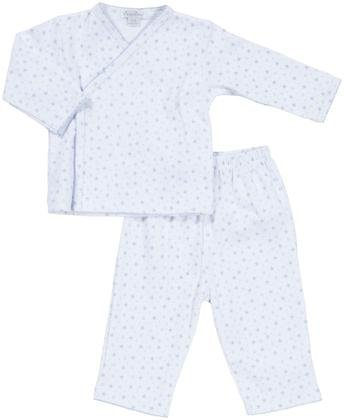 Kissy Kissy Baby Boys' Pant Set W/ Cross Tee (Baby) - White/Blue - 0-3 Months front-1079496