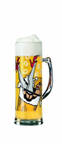 Ritzenhoff Beer Mug with Coaster by Sandra Knuyt