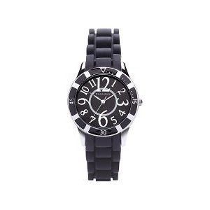 Cannibal Girl's Quartz Watch with Black Dial Analogue Display and Black Silicone Strap CJ221-03 by Cannibal