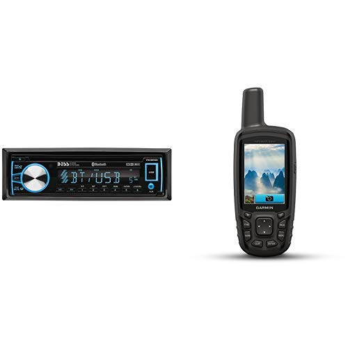 BOSS Audio 750BRGB Car Stereo and GPSMAP 64SC