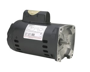 A.O. Smith B2853 1 HP, 3450 RPM, 1 Speed, 230/115 Volts, 7.1/14.2 Amps, 1.25 Service Factor, 56Y Frame, PSC, ODP Enclosure, Square Flange Pool Motor by Century Electric/AO Smith Motors Co
