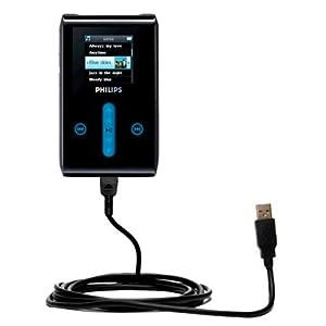 Un câble USB lisse Data HotSync compatible avec le Philips GoGear HDD1620 avec la fonction charge