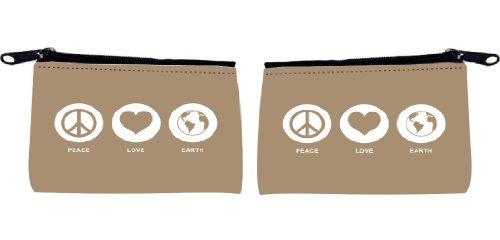 Rikki KnightTM Peace Love Earth Design Design Scuba Foam Coin Purse