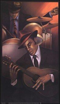 Jazz City 3 High Quality Museum Wrap Canvas Print Sagamore Studio 11X19