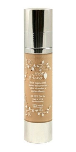 100% Pure Tinted Moisturizer with Sun Protection, Golden Peach