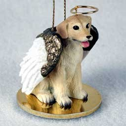 Yellow Labrador Angel Xmas Ornament