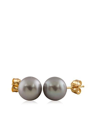 Splendid 7-7.5mm Grey Pearl Stud Earrings